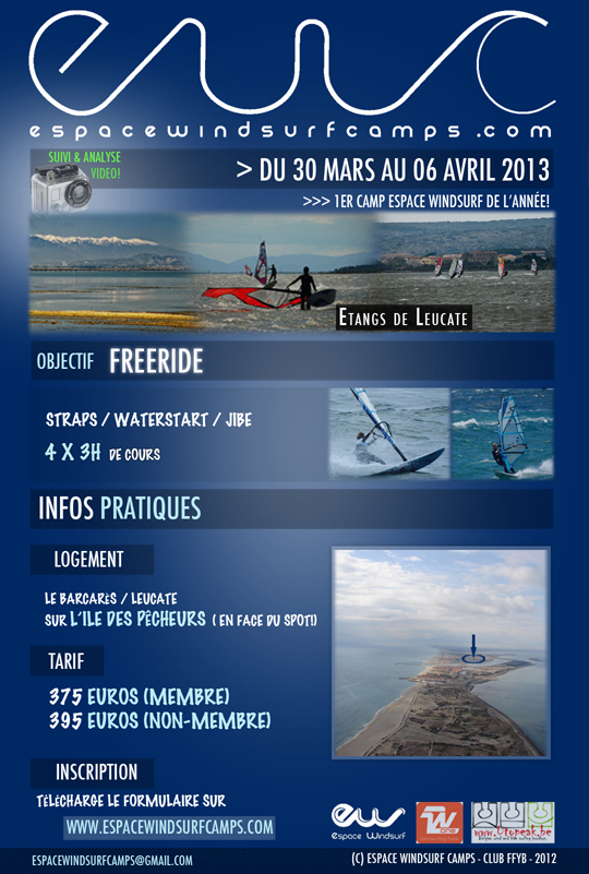 Camp Windsurf - Leucate du 7 au 14 avril